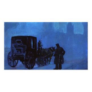Uma noite nevoenta por George Luks Cartao De Visita