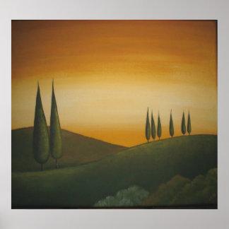 Uma paisagem de Tuscan Poster