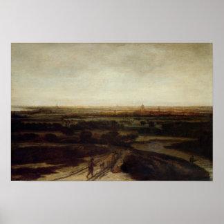 Uma paisagem holandesa poster