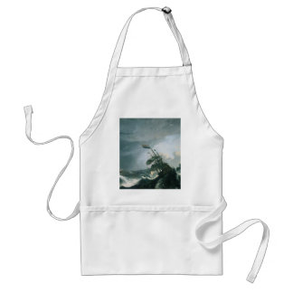 Uma pintura mundialmente famosa de um mar tormento avental
