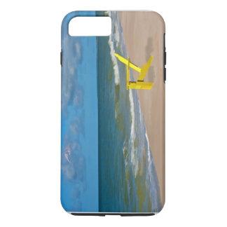 Uma praia em algum lugar e cadeira de praia capa iPhone 8 plus/7 plus