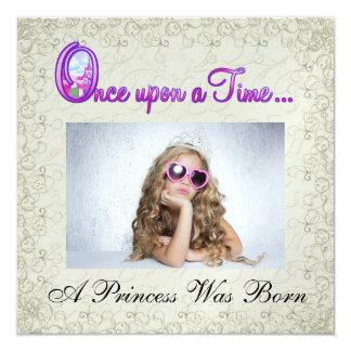Uma princesa real Partido - SRF Convite Quadrado 13.35 X 13.35cm