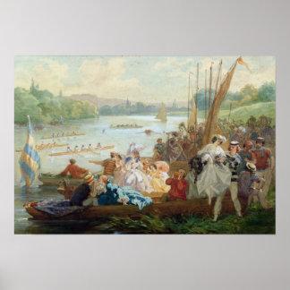 Uma regata em Asnieres durante o segundo império Posters