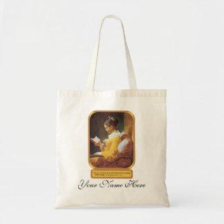 Uma sacola da leitura da hora bolsas de lona