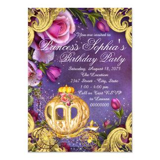 Uma vez princesa festa de aniversário convite 11.30 x 15.87cm