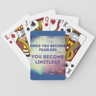 uma vez que você se torna sem medo você torna-se cartas de baralho