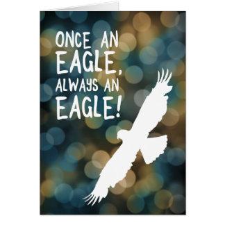 uma vez uma águia sempre uma águia cartão de nota