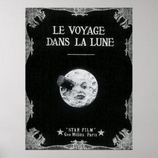Uma viagem à lua ou ao la Lune dos dans de Le Poster