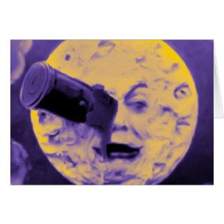 Uma viagem à lua (poeira de papel efervescente cartão comemorativo