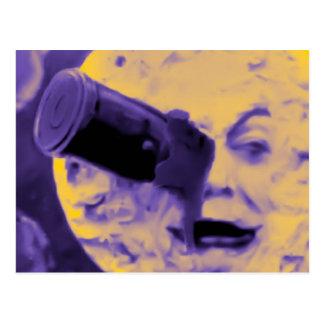 Uma viagem à lua (poeira de papel efervescente cartão postal