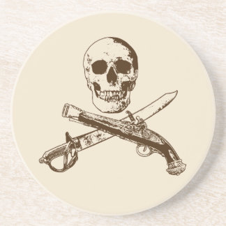 Uma vida skullcoaster_1 dos piratas porta-copos de arenito