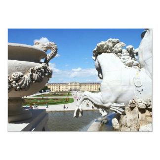 Uma vista do palácio de Schonbrunn em Viena, Convite 12.7 X 17.78cm