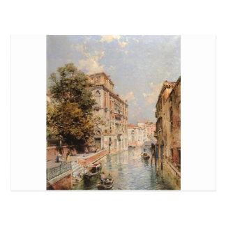 Uma vista em Veneza, Rio S. Porto por Franz Cartão Postal