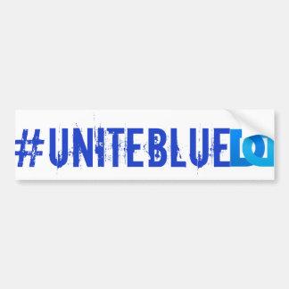 "Una o autocolante no vidro traseiro azul ""#UNITEBL Adesivo Para Carro"