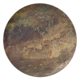 Undergrowth, c.1821 (óleo no papel a bordo) prato de festa
