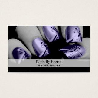 Unhas por Reann (unhas roxas) Cartão De Visita