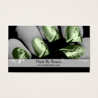 Unhas por Reann (unhas verdes) Cartão De Visita