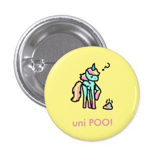 uni botão engraçado do poo bóton redondo 2.54cm