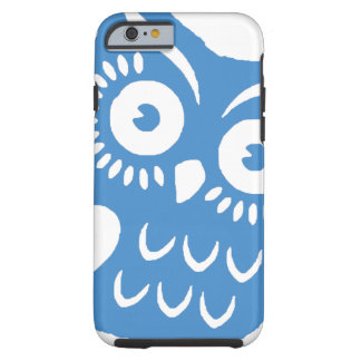 Única coruja azul capa tough para iPhone 6