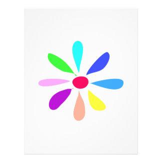 Única flor panfleto personalizados