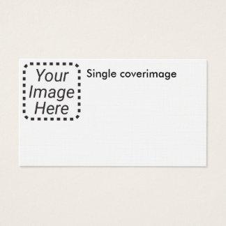 Única imagem no linho cartão de visitas