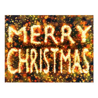 Único Merry Christmas card Cartão Postal
