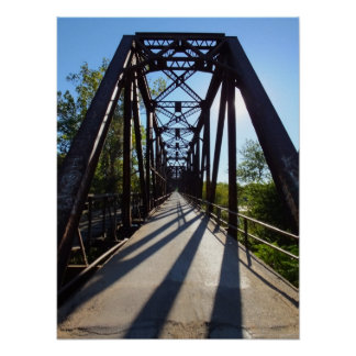 Único poster da ponte do ferro do carro