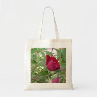 Único saco da rosa vermelha bolsa tote
