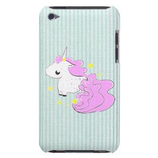 Unicórnio cor-de-rosa dos desenhos animados com ip capas iPod Case-Mate