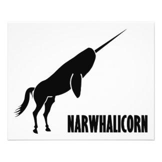 Unicórnio de Narwhalicorn Narwhal Modelo De Panfleto