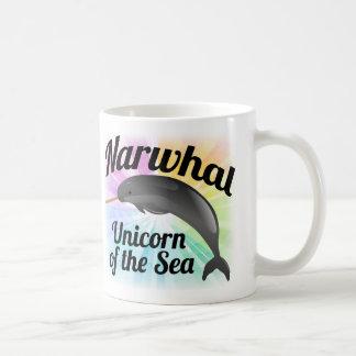 Unicórnio do mar, arco-íris bonito de Narwhal Caneca De Café