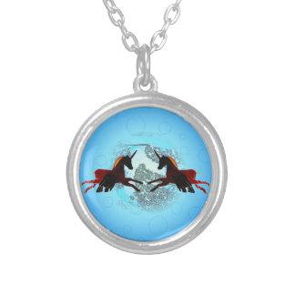 Unicórnio voado místico do cavalo que voa Pegasus Bijuteria Personalizada