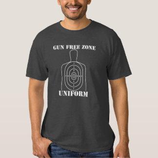 Uniforme da zona franca de arma t-shirts