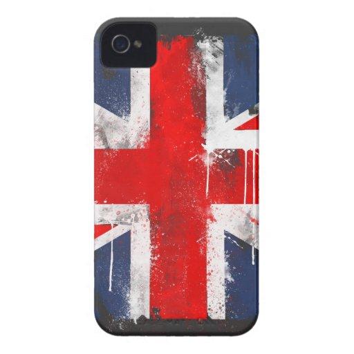 Union Jack - caixa corajosa de Blackberry Capas iPhone 4
