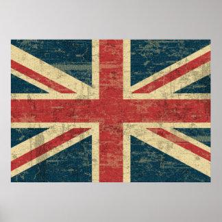 Union Jack desvanecido Pôster