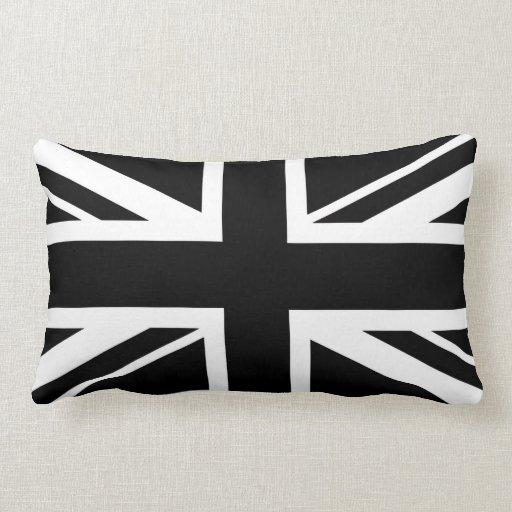 Union Jack preto e branco Travesseiros De Decoração