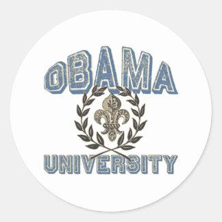 Universidade de Obama Fleur Adesivo