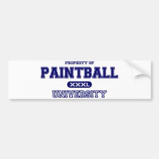 Universidade do Paintball Adesivo Para Carro