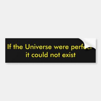 Universo perfeito adesivo para carro