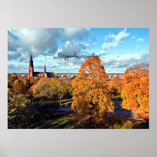 Upsália, paisagem da suecia poster