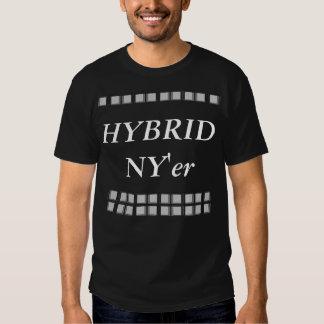 Urbanite preto e branco híbrido 2 do Tshirt NYC de