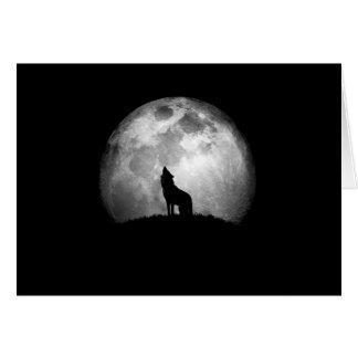 Urro pela luz de uma Lua cheia Cartão