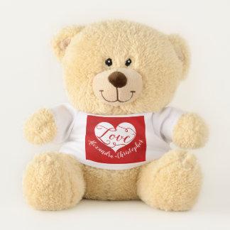 Ursinho De Pelúcia Dia dos namorados vermelho do coração da aguarela