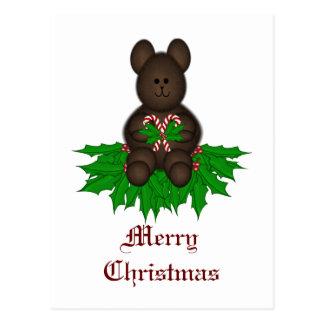 Ursinho do Feliz Natal Cartão Postal