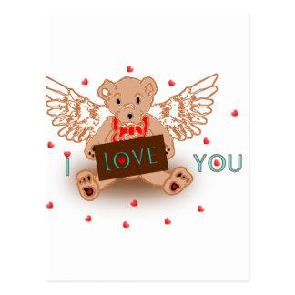 Ursinho I Love You Cartão Postal