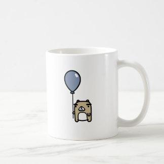 Urso com balão azul caneca de café