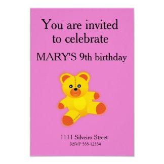 Urso Convite 8.89 X 12.7cm