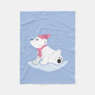 Urso Cub polar Cobertor De Lã