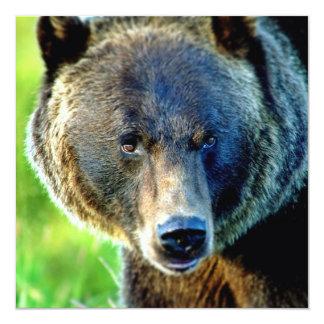 Urso de Brown Convite Quadrado 13.35 X 13.35cm