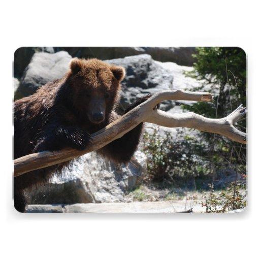 Urso de Brown de relaxamento Convites Personalizados